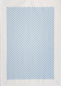 Tea Towel Starburst Blues on White