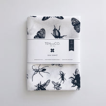 Load image into Gallery viewer, Tea Towel Bugs (Black)