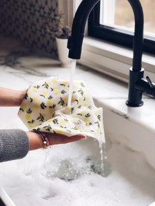 LARGE Citrus Lemon Sponge Cloth