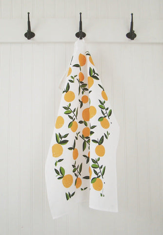 Tea Towel Citrus (Vintage Orange)