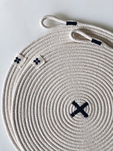 Load image into Gallery viewer, LARGE Rope X Trivet Black
