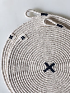LARGE Rope X Trivet Black