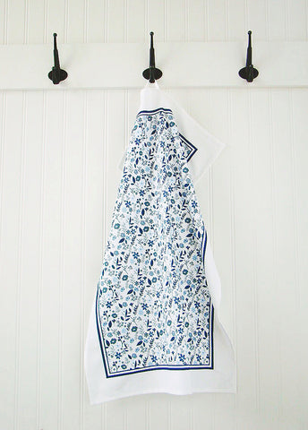 Tea Towel Floral (Navy)