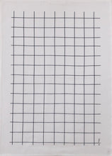 Load image into Gallery viewer, Tea Towel Grid (Black on White)