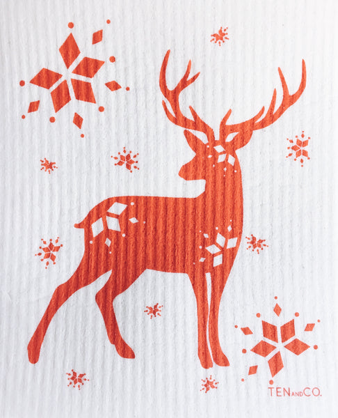 Stag Red Sponge Cloth