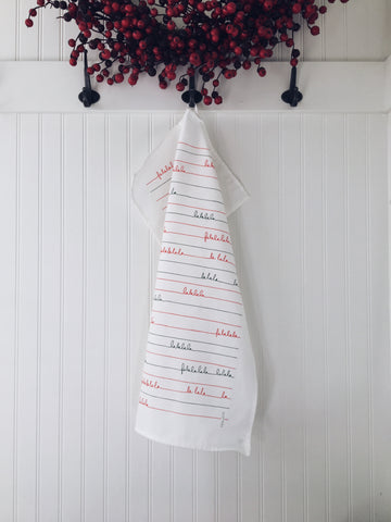 Tea Towel Falala (Red & Green)