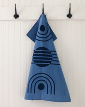 Load image into Gallery viewer, Tea Towel Arc Navy on Blue