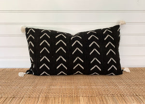 Authentic African Mudcloth Lumbar Pillow [Large]