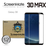 Samsung Galaxy S8 ScreenMate 3D Max Full Cover Tempered Glass - Black
