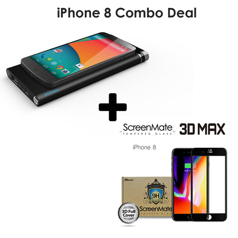 [iPhone 8 Combo Deal] ScreenMate 3D Screen Protector + Qi Wireless Charger