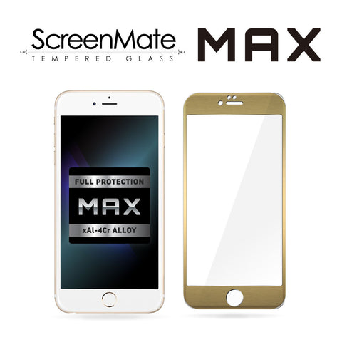 iPhone 6/6s Plus ScreenMate Max Tempered Glass (Gold)