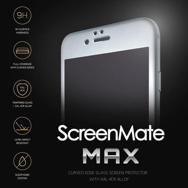 iPhone 6/6s Plus ScreenMate Max Tempered Glass (Space Gray)