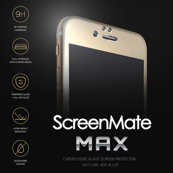 iPhone 6/6s ScreenMate Max Tempered Glass (Gold)