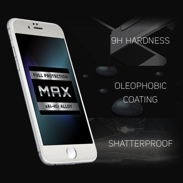 iPhone 6/6s Plus ScreenMate Max Tempered Glass (Silver)