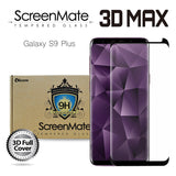 Samsung Galaxy S9 Plus ScreenMate 3D Max Full Cover Tempered Glass - Black