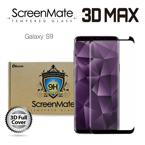 Samsung Galaxy S9 ScreenMate 3D Max Full Cover Tempered Glass - Black