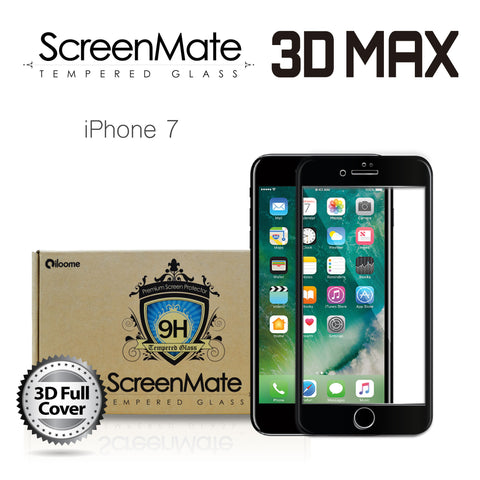 IPHONE 7 SCREENMATE 3D MAX FULL COVER TEMPERED GLASS - BLACK