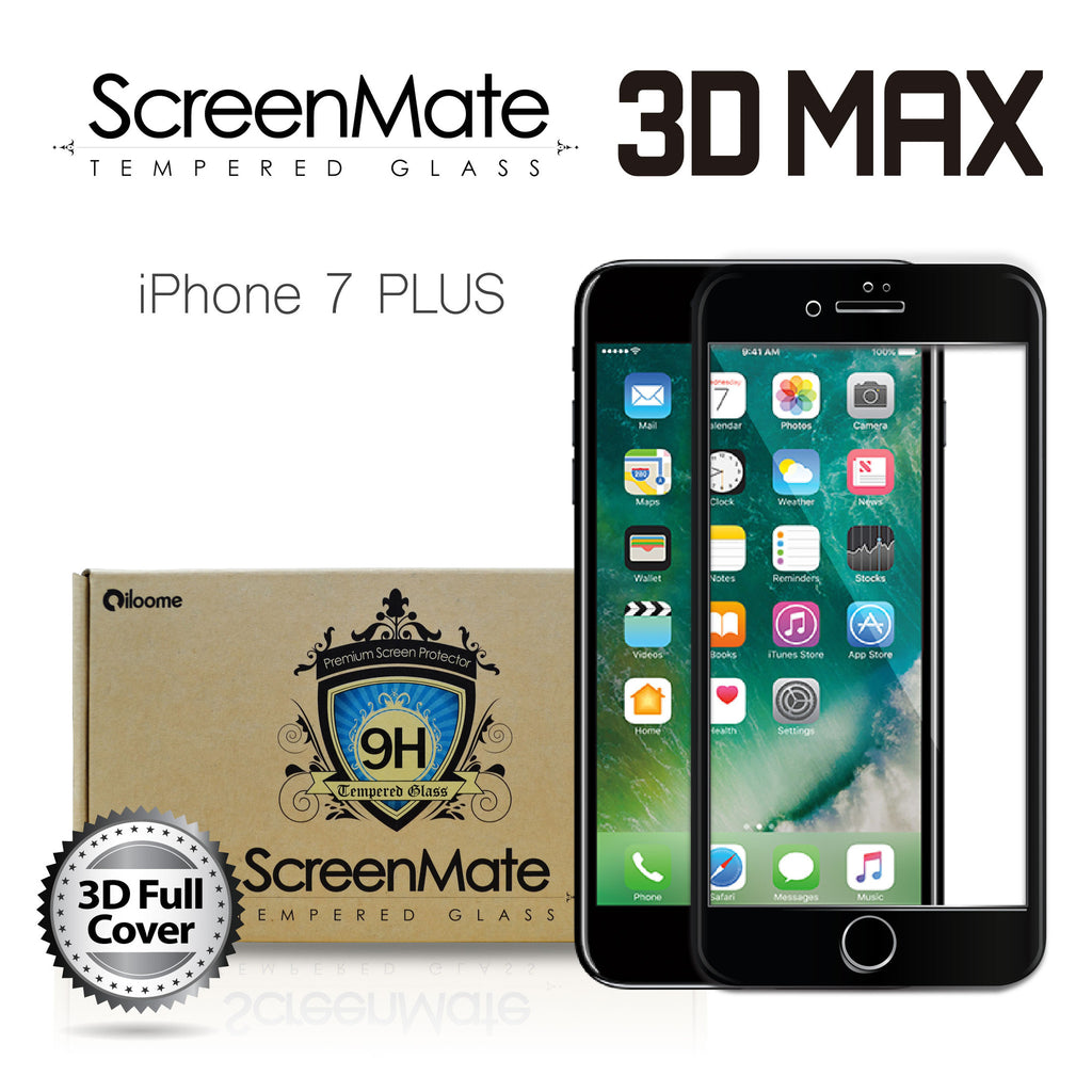 competitive price 2a960 6414f IPHONE 7 PLUS SCREENMATE 3D MAX FULL COVER TEMPERED GLASS - BLACK