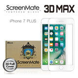 IPHONE 7 PLUS SCREENMATE 3D MAX FULL COVER TEMPERED GLASS - WHITE