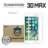 IPHONE 7 SCREENMATE 3D MAX FULL COVER TEMPERED GLASS - WHITE