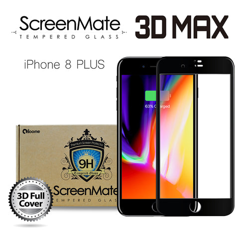 iPhone 8 Plus ScreenMate 3D Max Full Cover Tempered Glass - Black