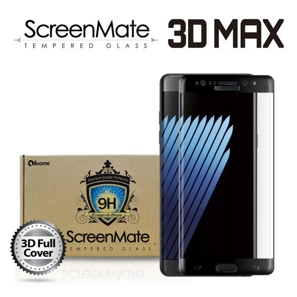 SAMSUNG GALAXY NOTE 7 SCREENMATE 3D MAX FULL COVER TEMPERED GLASS - BLACK