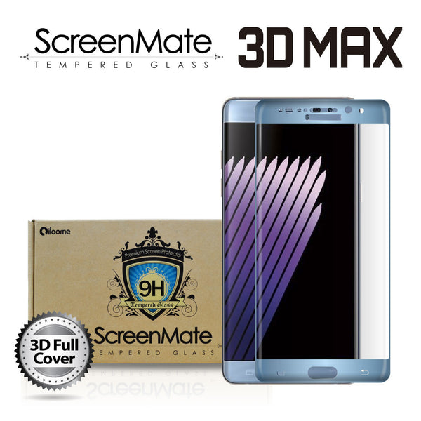 SAMSUNG GALAXY NOTE 7 SCREENMATE 3D MAX FULL COVER TEMPERED GLASS - BLUE CORAL