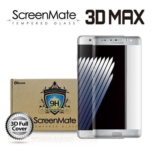SAMSUNG GALAXY NOTE 7 SCREENMATE 3D MAX FULL COVER TEMPERED GLASS - SILVER