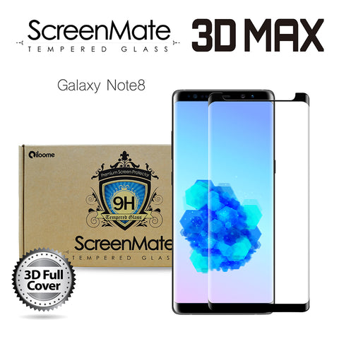 Samsung Galaxy Note8 ScreenMate 3D Max Full Cover Tempered Glass - Black