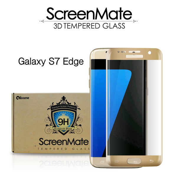 Samsung Galaxy S7 edge ScreenMate 3D Max Full Cover Tempered Glass - Gold