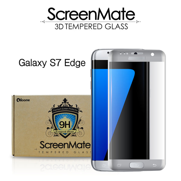 Samsung Galaxy S7 edge ScreenMate 3D Max Full Cover Tempered Glass - Silver
