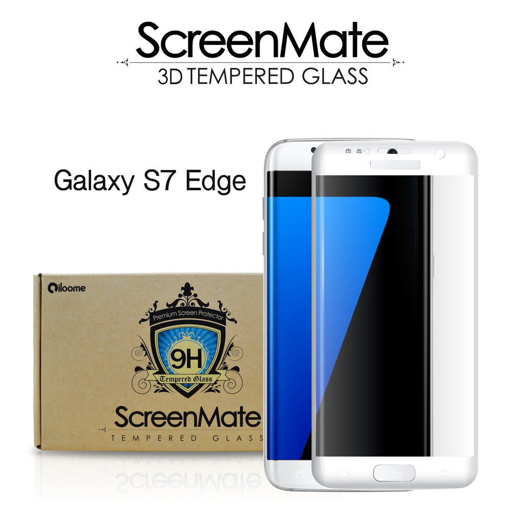 watch 0048d daf70 Samsung Galaxy S7 edge ScreenMate 3D Max Full Cover Tempered Glass - White
