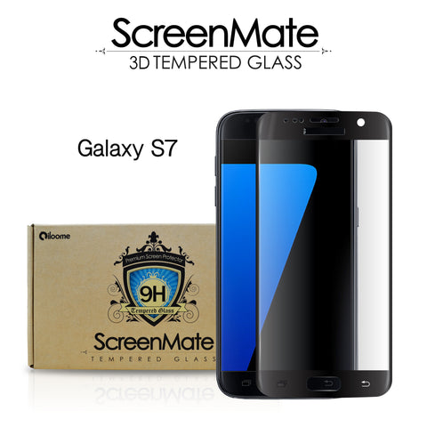 Samsung Galaxy S7 ScreenMate 3D Max Full Cover Tempered Glass - Black