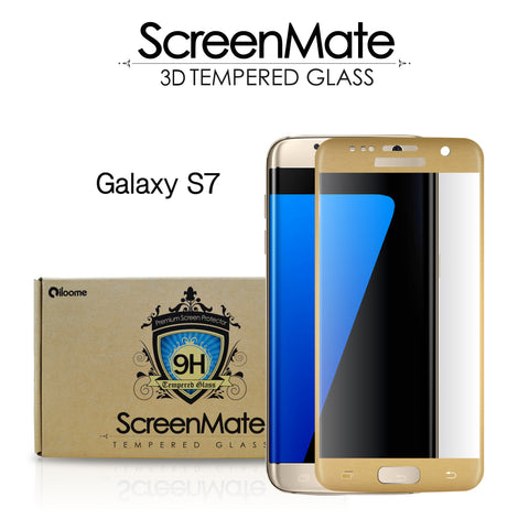 Samsung Galaxy S7 ScreenMate 3D Max Full Cover Tempered Glass - Gold