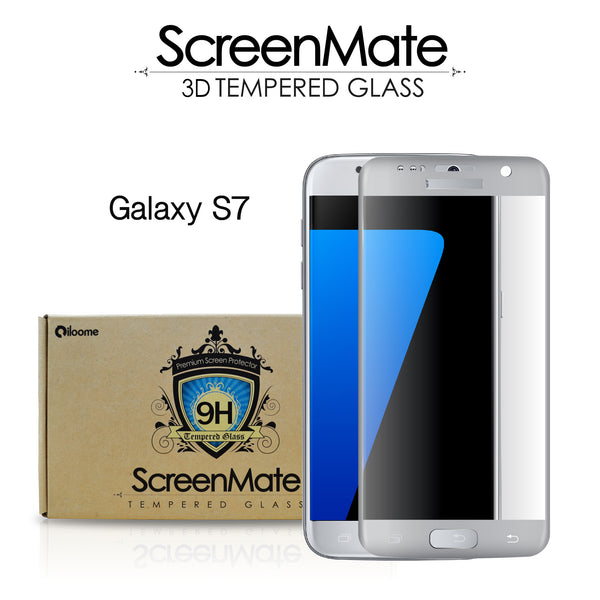 Samsung Galaxy S7 ScreenMate 3D Max Full Cover Tempered Glass - Silver