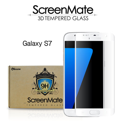 Samsung Galaxy S7 ScreenMate 3D Max Full Cover Tempered Glass - White
