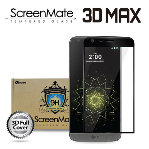 LG G5 ScreenMate 3D Max Full Cover Tempered Glass - Black