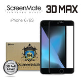 iPhone 6/6S ScreenMate 3D Max Full Cover Tempered Glass - Black