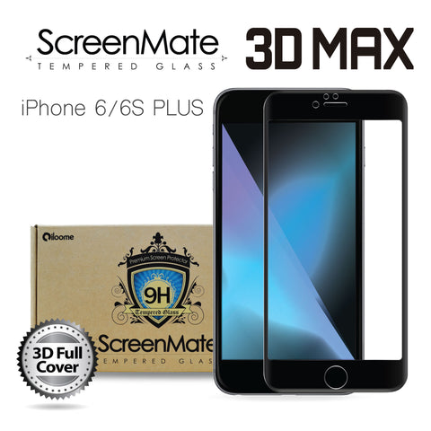 iPhone 6/6S Plus ScreenMate 3D Max Full Cover Tempered Glass - Black