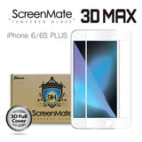 iPhone 6/6S Plus ScreenMate 3D Max Full Cover Tempered Glass - White