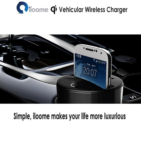 Qi Vehicular Wireless Charger - Cup Holder Type