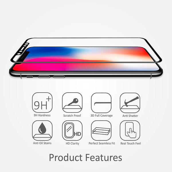 [iPhone X Combo Deal] ScreenMate 3D Screen Protector + Qi Wireless Charger