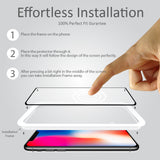 iPhone X ScreenMate 3D Max Full Cover Tempered Glass + Installation Frame - Black
