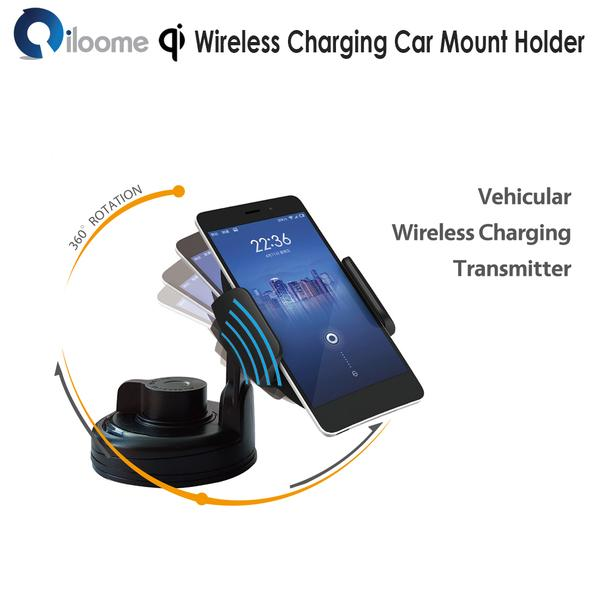 iloome - Qi Wireless Charging Car Mount Holder