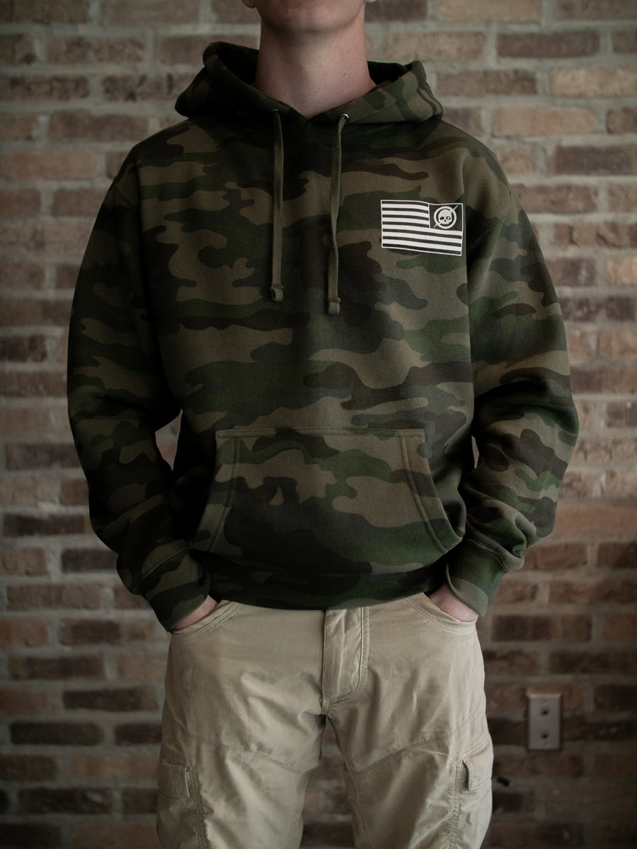 Battle Flag Hoodie - Green Camo