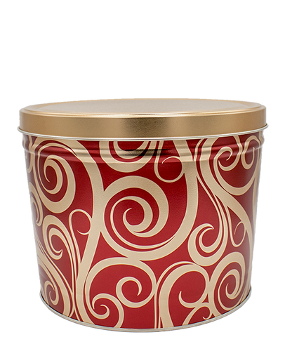 Kettle Corn Tin Golden Swirls - 2 Gallon