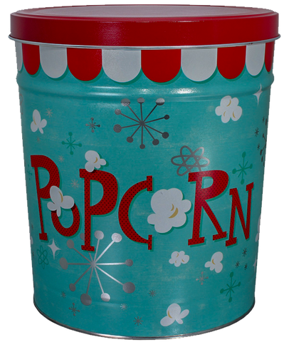 Kettle Corn Tin Retro  3.5 Gallon Tin