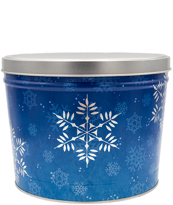 Kettle Corn Tin Snow Flake 2 Gallon