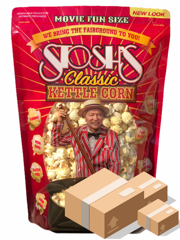 Stosh's Kettle Corn MOVIE SIZE CASE - 8 oz. (12 Bags)
