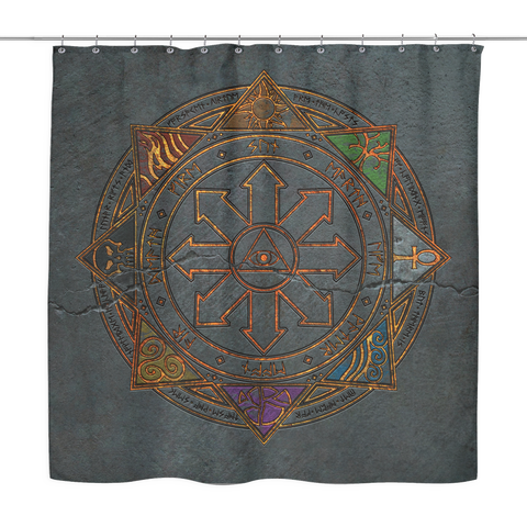 SotA Shower Curtain - Magic Sigil on Stone